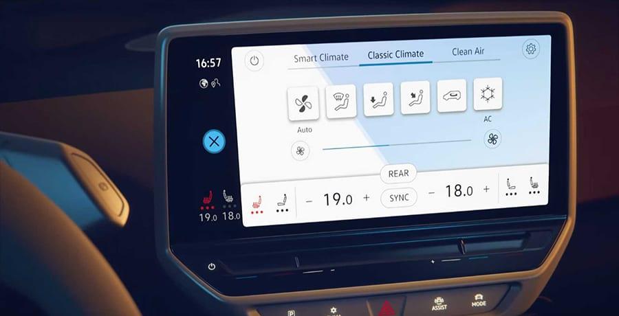 Volkswagen ID.3 interior filtrado pantalla principal