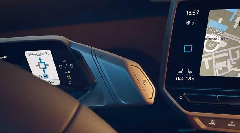 Volkswagen ID.3 interior filtrado selector cambio