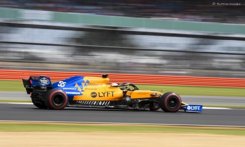 MCL34 en Silverstone