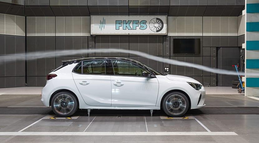 Opel Corsa túnel de viento