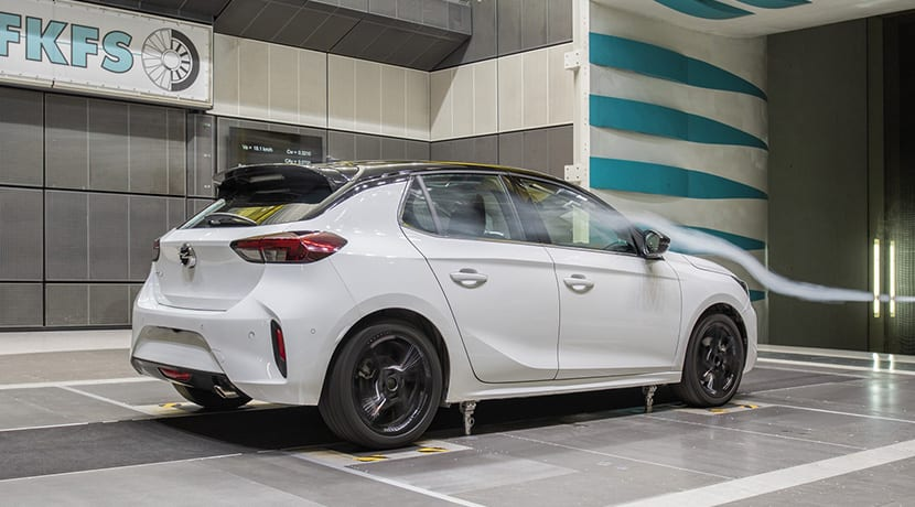 Opel Corsa coeficiente aerodinámico