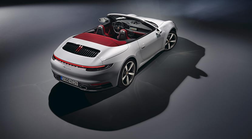 Trasera del Porsche 911 Carrera Cabriolet