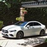 Prueba Mercedes Clase A Sedán perfil lateral
