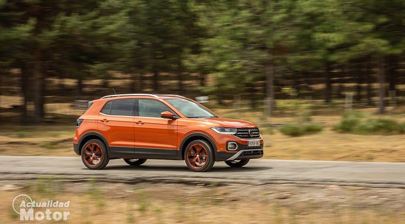 Prueba Volkswagen T-Cross dinámica perfil delantero
