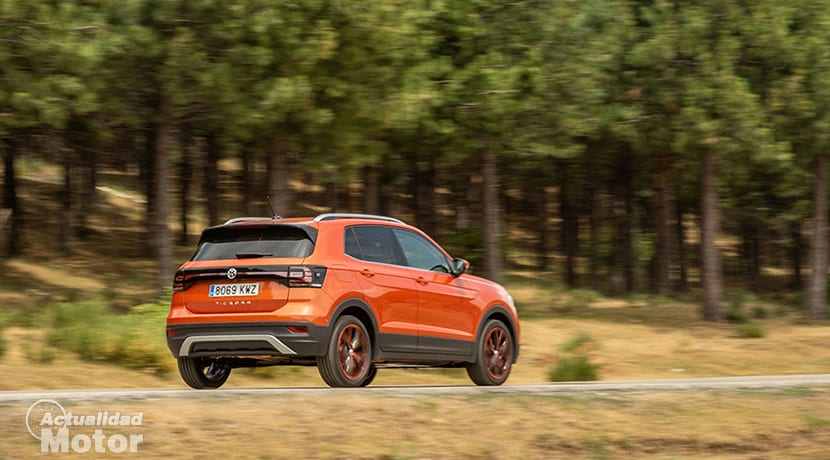Prueba Volkswagen T-Cross dinámica parte trasera