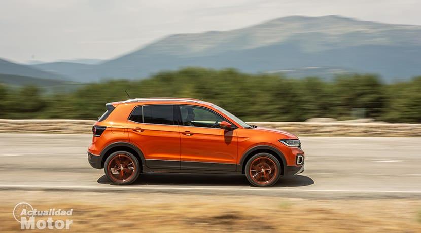Prueba Volkswagen T-Cross dinámica lateral