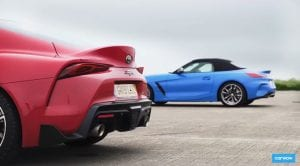 Toyota Supra Vs BMW Z4 dragrace
