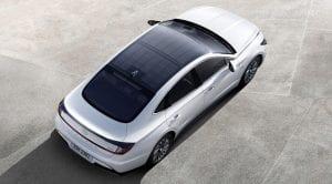 Hyundai Sonata Hybrid solar roof charging system
