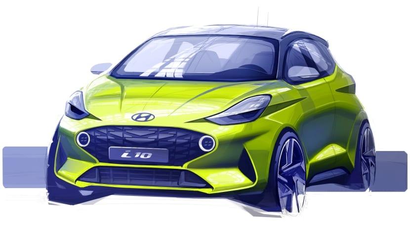 Hyundai i10 sketch teaser