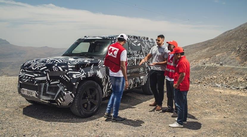 Land Rover Defender Red Cross International Test