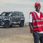 Land Rover Defender Red Cross International Test