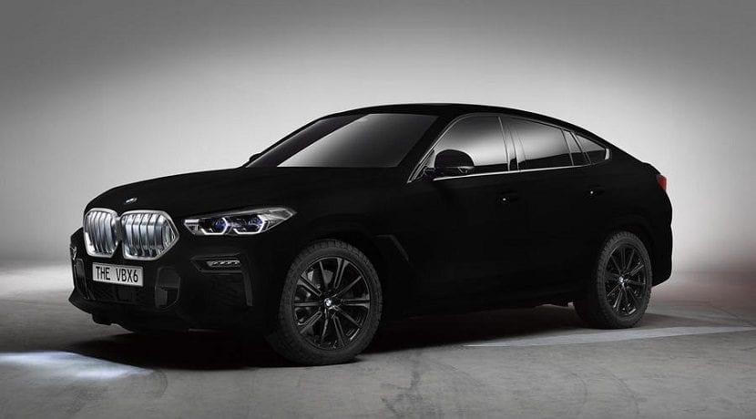 BMW X6 Vantablack negro mate