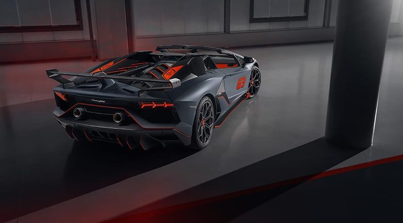 Lamborghini Aventador SVJ 63 Roadster trasera