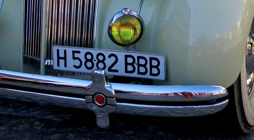 Matrícula de vehículo histórico