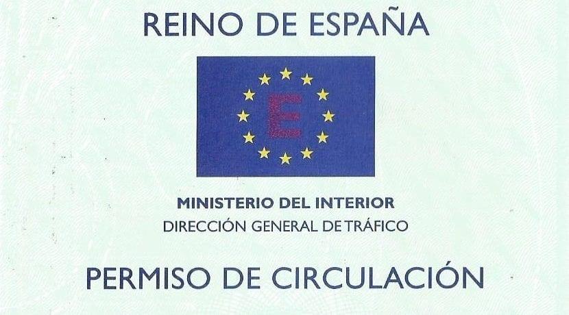 Documentación para solicitar matricula: permiso de circulación y DNI del solicitante