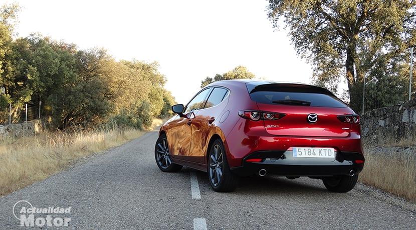 Parte trasera del Mazda3 2019
