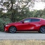 Prueba Mazda3 gasolina 122 CV lateral