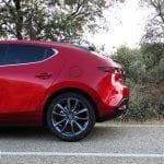 Prueba Mazda3 gasolina 122 CV pilar trasero