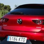 Prueba Mazda3 gasolina 122 CV detalle trasera