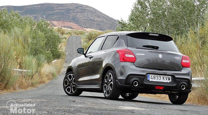 Prueba Suzuki Swift Sport perfil trasero