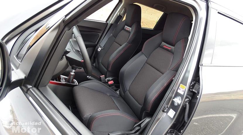 Prueba Suzuki Swift Sport asientos delanteros