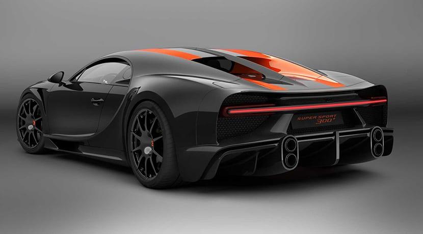 Bugatti Chiron Super Sport +300 trasera