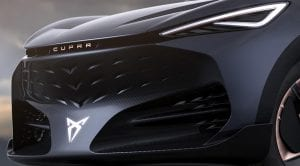 Cupra Tavascan prototipo eléctrico detalle frontal