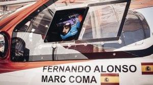 Fernando Alonso y Marc Coma Toyota Hilux