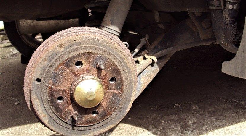 Aspecto de este tipo de frenos sin la rueda