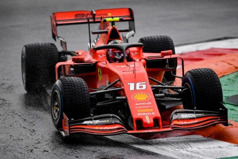 Ferrari de Leclerc en el GP de Italia de F1 2019