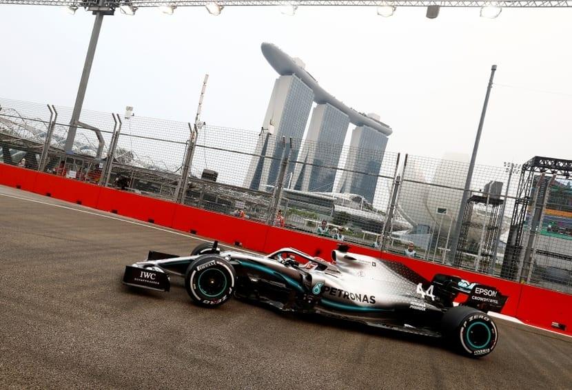 GP Singapur 2019, Mercedes - Hamilton