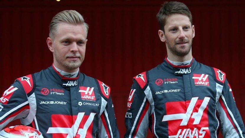 Magnussen y Grosjean