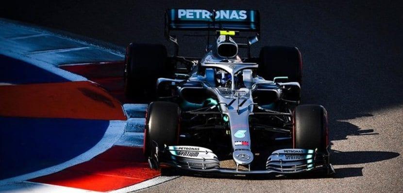 Mercedes de Hamilton en Rusia 2019