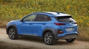 Hyundai Kona Híbrido trasera