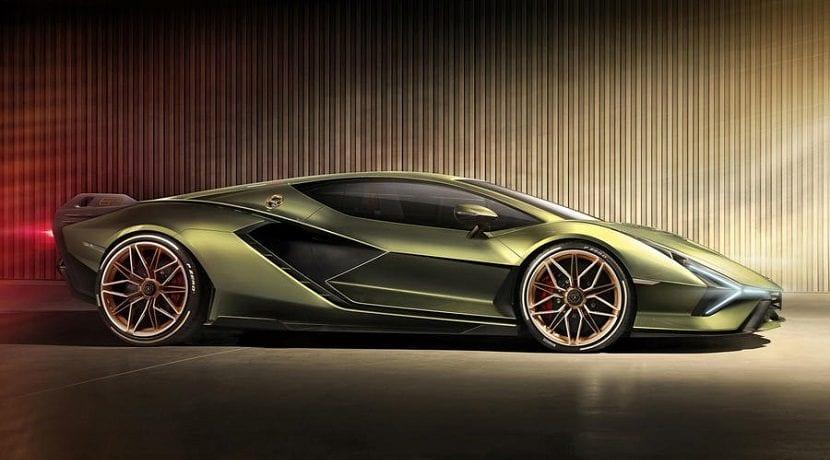 Lateral del Lamborghini Sian