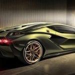 Trasera del Lamborghini Sian