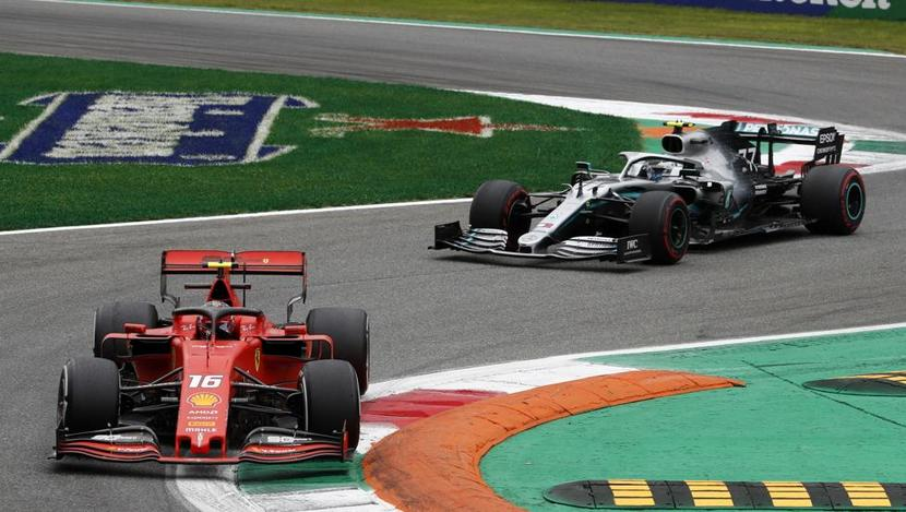 Leclerc vs Hamilton GP de Italia F1 2019