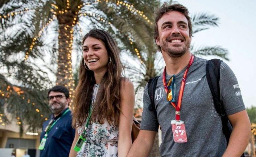 Linda Morselli, novia de Fernando Alonso juntos