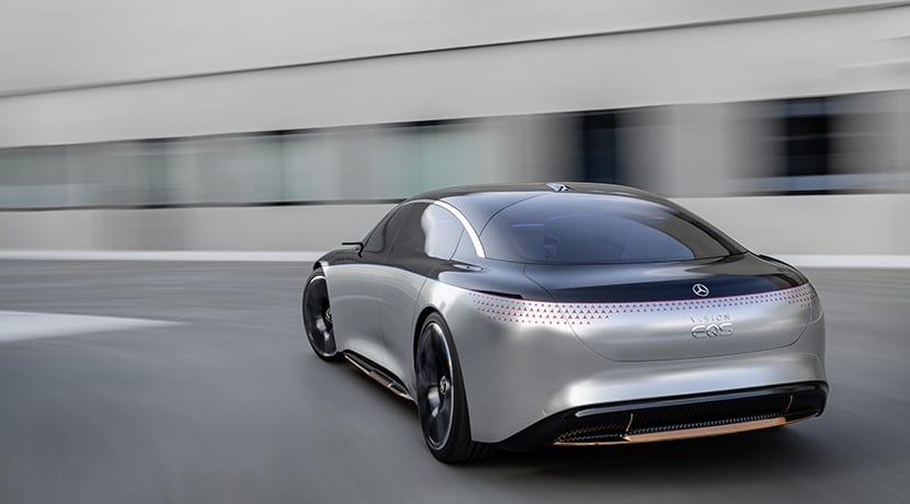 Mercedes-Benz Vision EQS Concept trasera