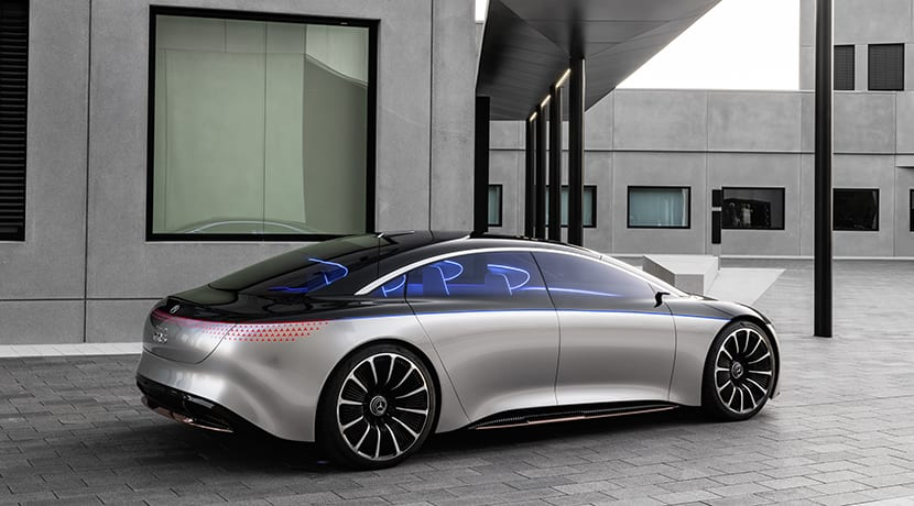 Mercedes-Benz Vision EQS Concept lateral