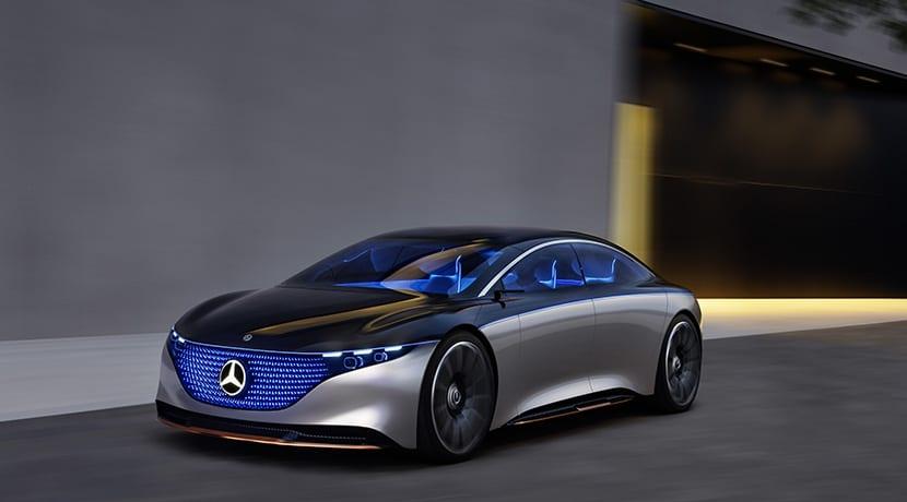 Mercedes-Benz Vision EQS Concept frontal