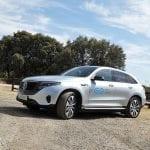 Prueba Mercedes-Benz EQC perfil delantero