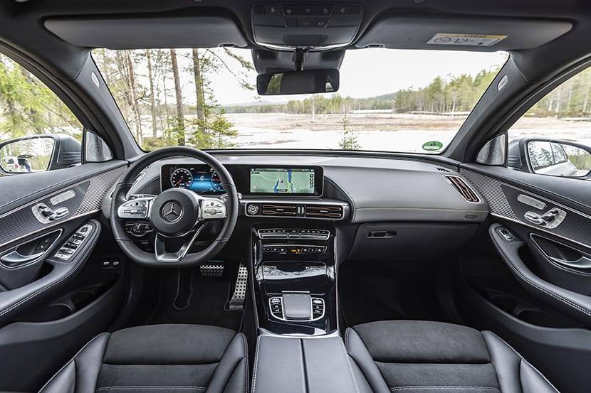 Prueba Mercedes-Benz EQC interior