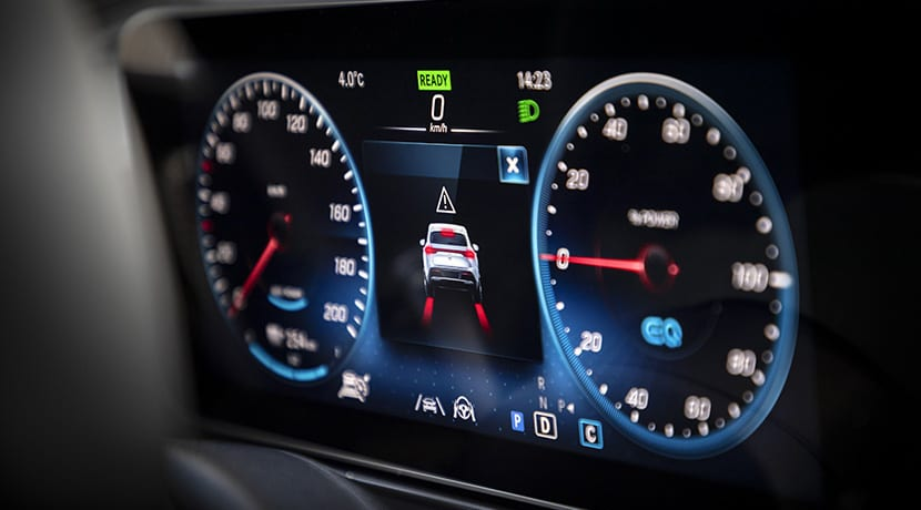 Cuadro de instrumentos del Mercedes EQC
