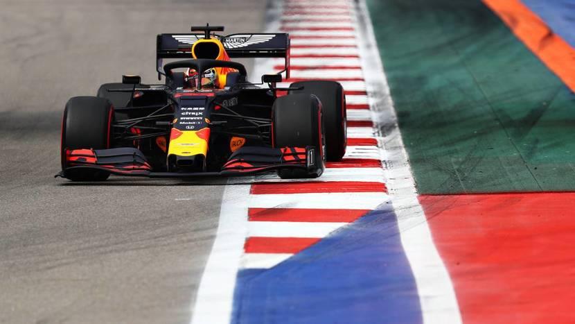 Red Bull en el GP de Rusia de 2019