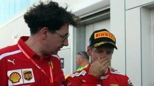 Binotto y Vettel
