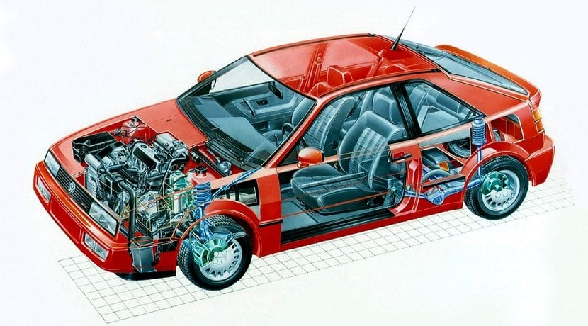 Mecánica del coupé de dos puertas compacto de Volkswagen