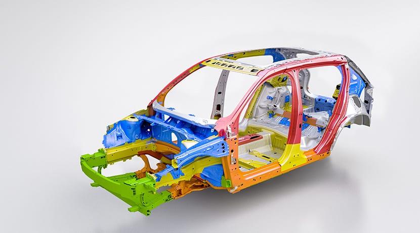 Volvo XC40 eléctrico estructura