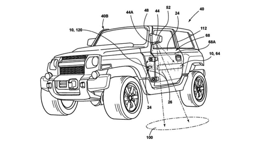 Ford Bronco Mirror Patent Front