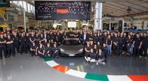 Lamborghini Huracán producción